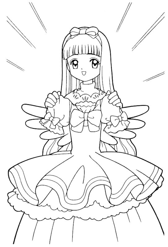 vs sasuke anime coloring pages for kids printable free source little miss kinomoto a cardcaptor sakura fansite information about the anime manga - Cardcaptor Sakura Coloring Pages