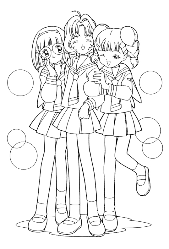 funstuff coloring pages - Cardcaptor Sakura Coloring Pages